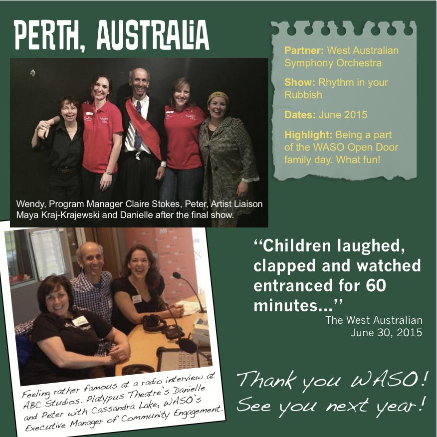 Rhythm in Your Rubbish Perth WASO